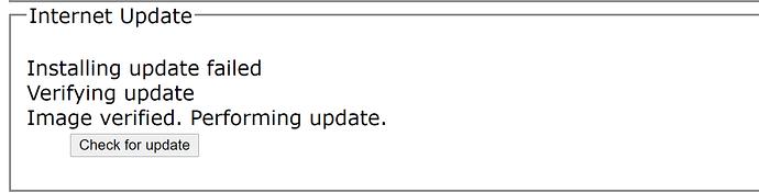 dCS Rosinni Update Failed Message